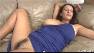 Busty milf tugjob and snatch rubbing