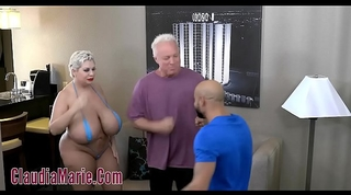 Huge tit claudia marie tore up by 2 angry studs