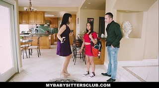 Mybabysittersclub - baby sitter receives a 3some on the job