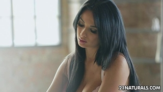 Voluptuous anissa kate's vehement time alone