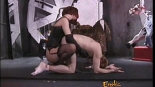 Stunning redhead looker enjoys whipping her greatly lascivious paramour sensually