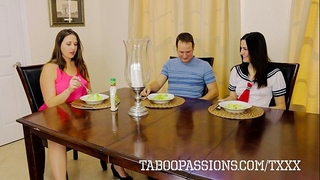 Horny whore sister addie juniper copulates brother whilst milf watches