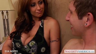 Tattooed milf eva notty take a large youthful jock