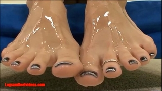 Legsandfeetvideos.com fantastic smokin' footjobs and take up with the tongue cum of feet and drink