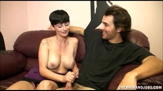 Sexy milf gives some weenie strokes