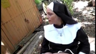 Naughty german nun can't live without knob