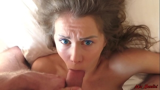 Sleeping beauty wakes up from the jock in her throat. mia bandini