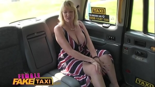 Female fake taxi blond milf cums on hot redheads tongue