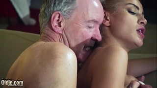 Old stud dominated by hawt hawt sweetheart in old youthful femdom hardcore fucking