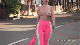 Cameltoe - i wore taut yoga panties in public