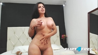 Beautiful sarah harper discloses her large titties and booty with striptease